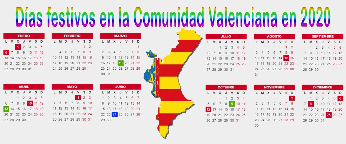 Calendario 2020 Espana Con Festivos.Dias Festivos En La Comunidad Valenciana En 2020